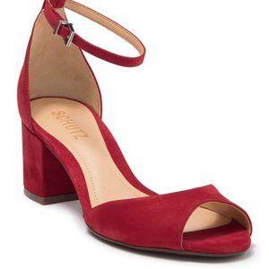 "Schutz ""roama"" block heel brand new ankle strap"